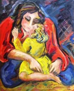 Maternidades Niña en amarillo