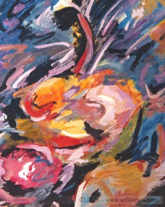 Paisajes Fondo marino O./T. 135 x 100