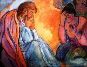 Jesus un acto de amor Dolor por el amigo